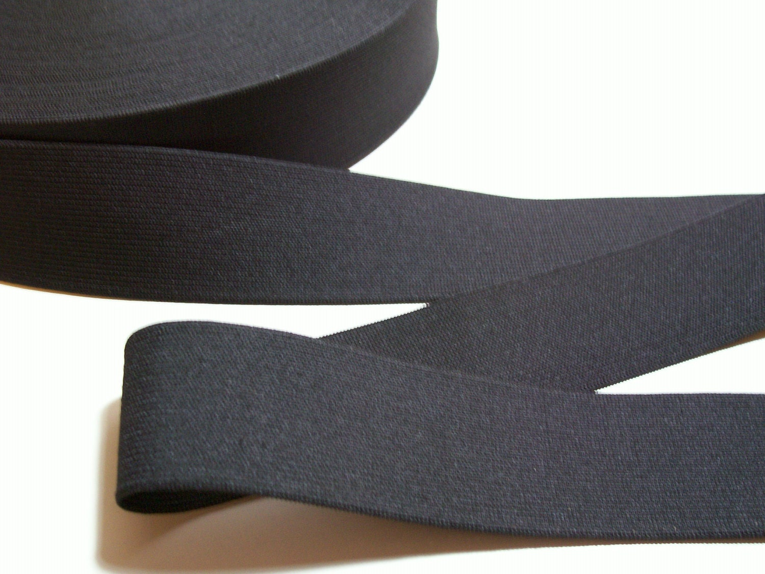 Black Heavy Duty Elastic 1 15/16 inches wide x by GriffithGardens