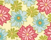 Michael Miller Sandi Henderson Breeze Lei Ginger Blossom Fabric 1 Yard NEW
