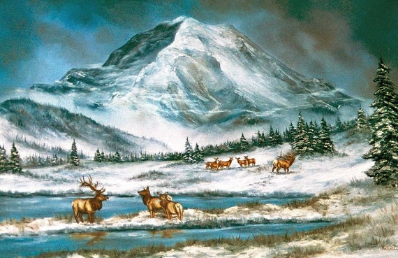 Elk at Mt. Rainier