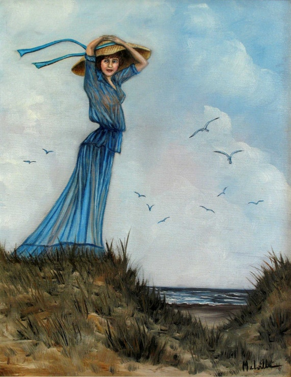 Girl in Blue with Hat---------Girl in Blue with Bird