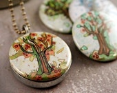 Jessica Doyle FOUR SEASONS OF TREES Recycled Magnetic LOCKET SET By Polarity