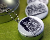 Picture Locket - ALICE is Lost In Wonderland Magnetic Recycled LOCKET SET By Polarity