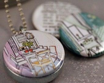 Stephanie Levy NURTURE Magnetic Kitchen Collage Locket by Polarity
