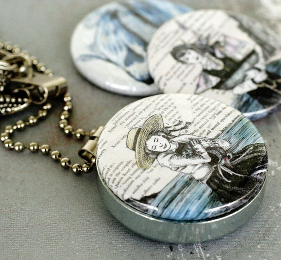 Seaside Mirror Locket Necklace - Magnetic and Interchangeable by Polarity and StudioMME - Starfish, Whale, Boat