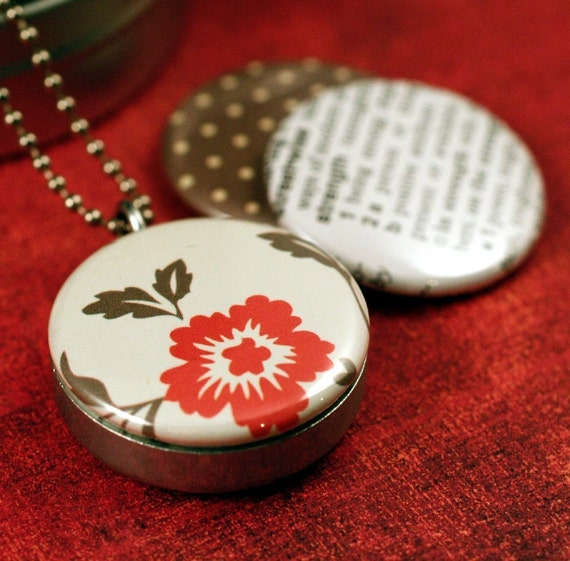 STRENGTH EtsyProjectEmbrace Recycled Magnetic LOCKET SET By Polarity