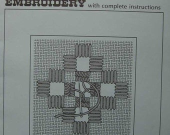Beginners Charted Hardanger Embroidery Pattern Book