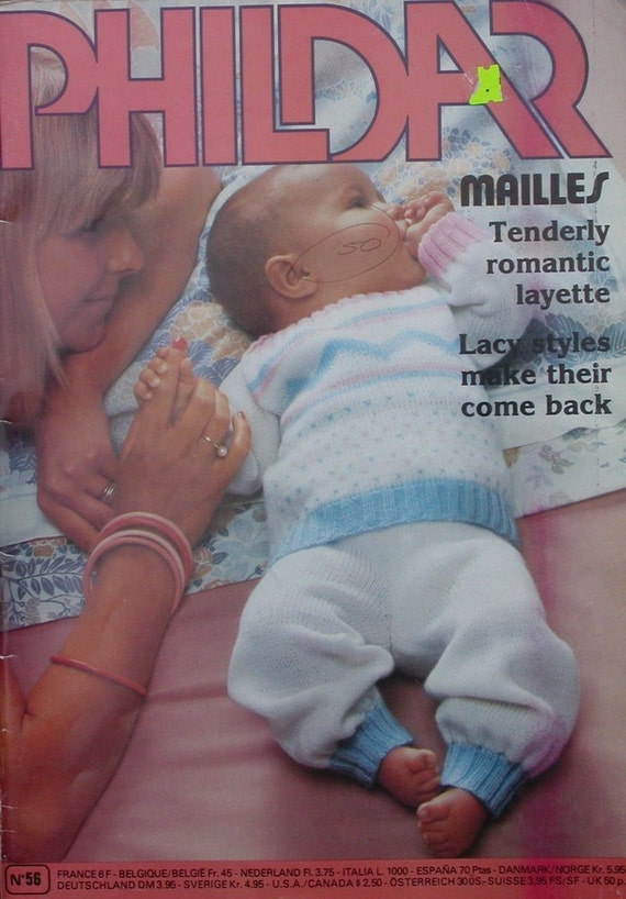 PHILDAR BABY KNITTING PATTERNS MAGAZINE