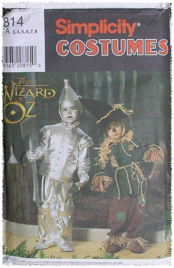 SImplicity Halloween Costume Pattern Childrens Wizard of Oz