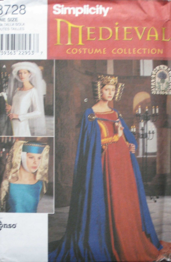 Simplicity Medieval Costume Collection Pattern