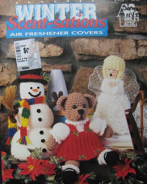 Annies Attic Crochet Air Freshener Covers Pattern Book