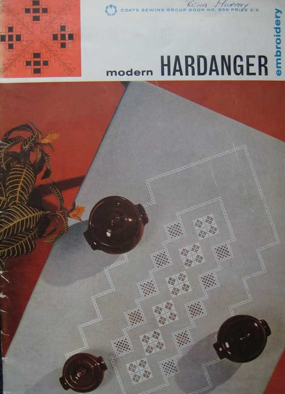 Vintage modern hardanger embroidery pattern book by