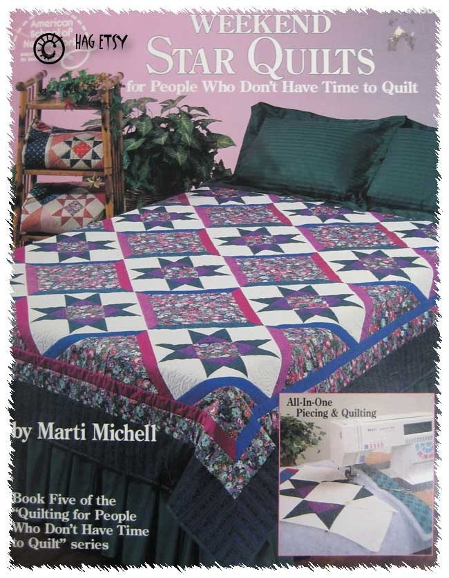 WEEKEND STAR QUILT PATTERN BOOK MARTI MICHELL by TheHowlingHag