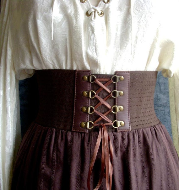 Size SMALL - Brown Rennaisance Lace Up Belt