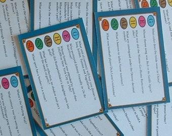 50 Vintage Trivial Pursuit Question Cards