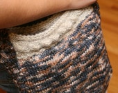 Sandy and Prussian Blue Cabled Knit Bag for Women