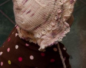 Pink Baby Girls Knit Sun Hat 12 months