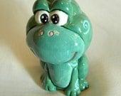 Swirly Froggy Bobble Head