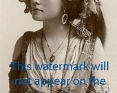 BEAUTIFUL GYPSY Vintage MIGNON Photo Reprint