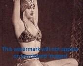 Pretty BELLY DANCER Vintage Photo Reprint