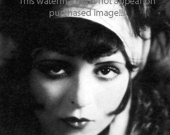 BEAUTIFUL FLAPPER  with HEADBAND Vintage Photo Reprint