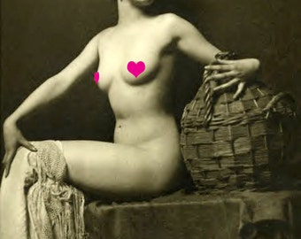 EXOTIC French NUDE Vintage Photo Reprint ...MATURE