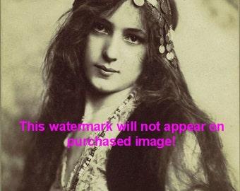 BEAUTIFUL GYPSY Vintage Photo Reprint