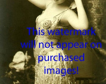 PRETTY BELLY DANCER Vintage Photo Reprint