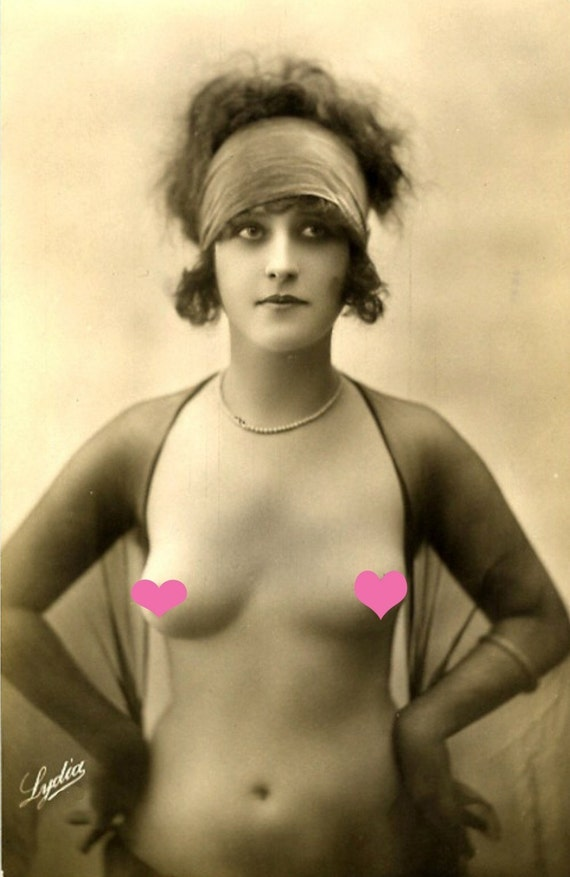 NUDE Topless Model VINTAGE Photo REPRINT ...Mature