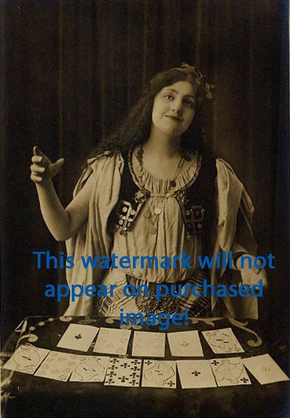 CIRCUS FORTUNE TELLER Vintage Photo Reprint
