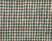 FLAWED Cotton Homespun Fabric 1 Yard Green Small Check FLAWED