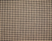 FLAWED Check Material | Cotton Material | Quilt Material | Craft Material | Homespun Cotton Black Small Check Material 1 Yard