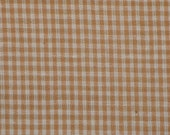 Check Fabric | Homespun Fabric | Small Check Fabric |  Wheat Small Check Fabric | Cotton Rag Quilt Fabric | Wreath Making Fabric