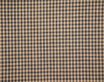 Check Material | Cotton Material | Quilt Material | Craft Material | Home Decor Fabric | Homespun Cotton Black Small Check Material 1 Yard