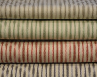 Vintage Inspired Woven Cotton Ticking Fat Quarter Bundle Of 4