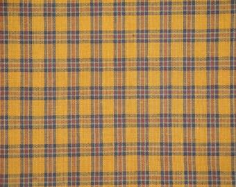 Cotton Homespun Material Multi Color Plaid 1 Yard