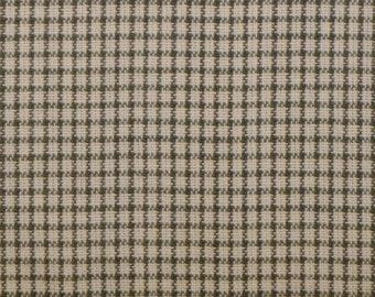 Cotton Homespun Fabric Sage Windowpane Plaid 1 Yard