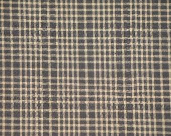 Homespun Cotton Fabric Kettle Grove Black Plaid 45 x 44