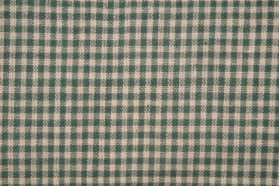 Cotton Homespun Fabric Green Small Check 29 x 44