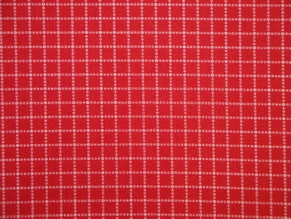 Always And Forever  Red Window Pane By Alex Anderson For P & B Cotton Fabric 56 x 44