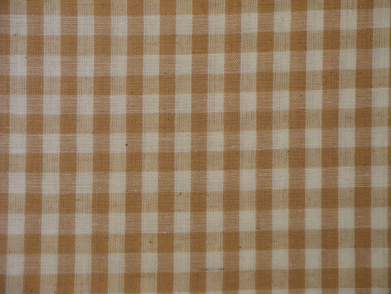 RESERVED Cotton Homespun Fabric Wheat Large Check 7 Yards