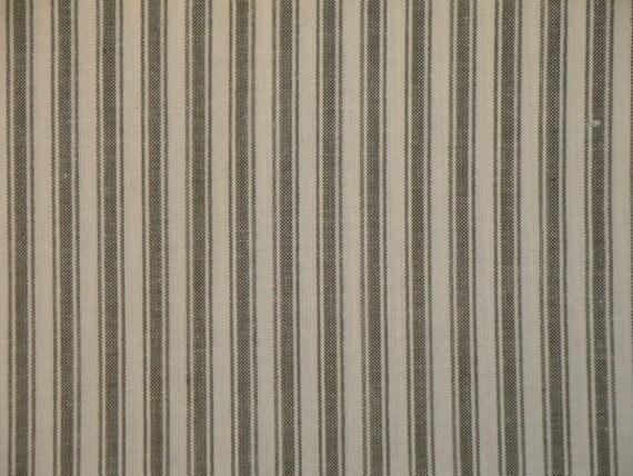RESERVED Ticking Homespun Sage Stripe Cotton Fabric 10 Yards