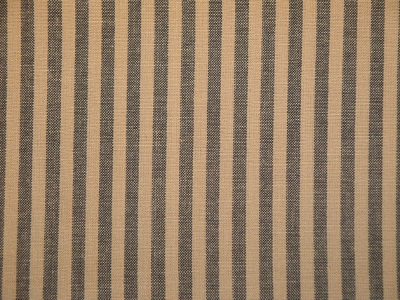 Ticking Fabric | Striped Fabric | Homespun Striped Fabric | Kettle Grove Ticking | 1 Yard