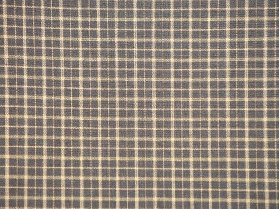 RESERVED Homespun Cotton Fabric Kettle Grove Plaid Black 3 Yards