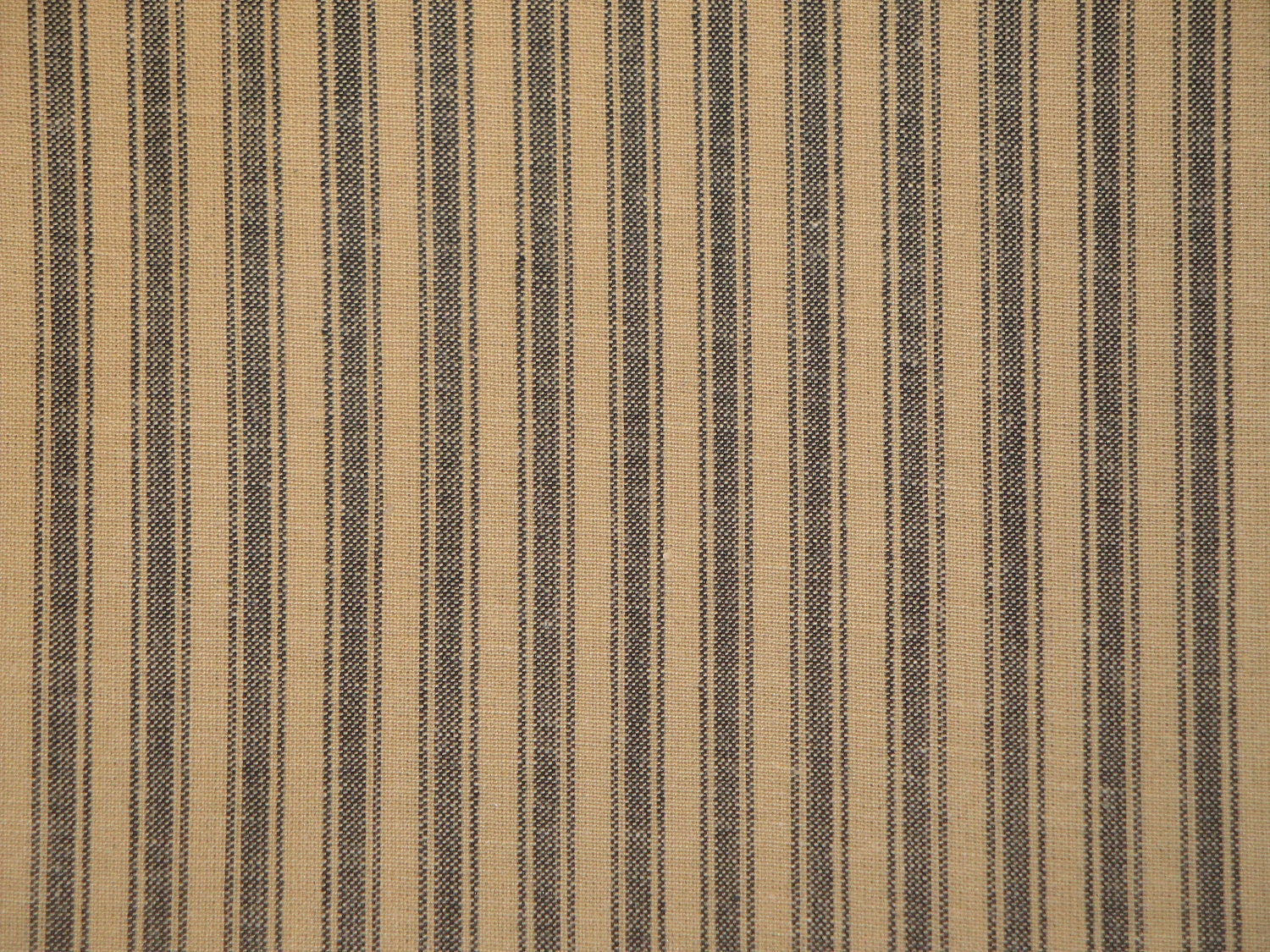 Black ticking stripe homespun fabric 54 x 44 last piece for Ticking fabric