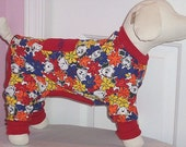 Dog Clothing Pajamas Charlie Brown and Snoopy To Order XSmall and Up
