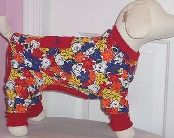Dog Pajamas Charlie Brown and Snoopy To OrderXXSmall to Medium