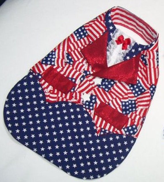 Reserved for LIAM Pet Clothing Patriotic Gentlemen's Vest  July 4th Independence Day Celebrations