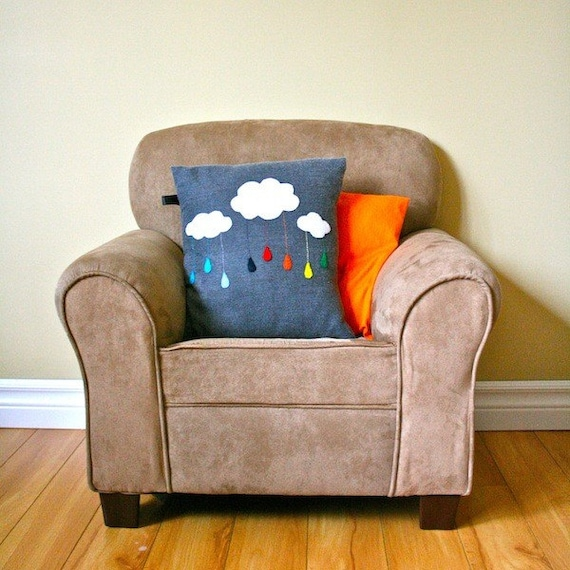 Rain-Bow-Cloud Customizable Cushion Cover
