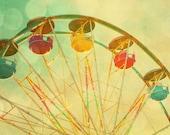 Lemon yellow citrus carnival art circus photo gumdrops fruit candy colors ferris wheel summer midway