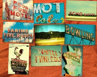 Vintage neon signs, motel sign photography, retro travel photography, typography, neon motel signs, mid century modern,neon lights,Americana